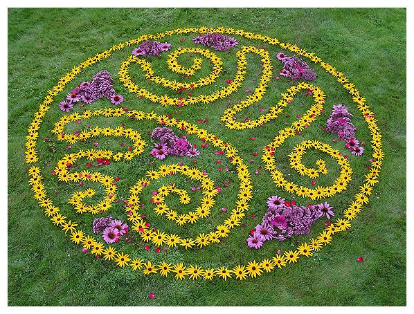 whitney krueger earthwork environmental mandala flower floral earthereal ephemeral nature art botanical celestial deva glyph