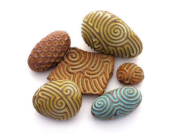 art, carved, ceramic, clay, geomancy, instrument, rattle, stones, whitney krueger, singing stones™