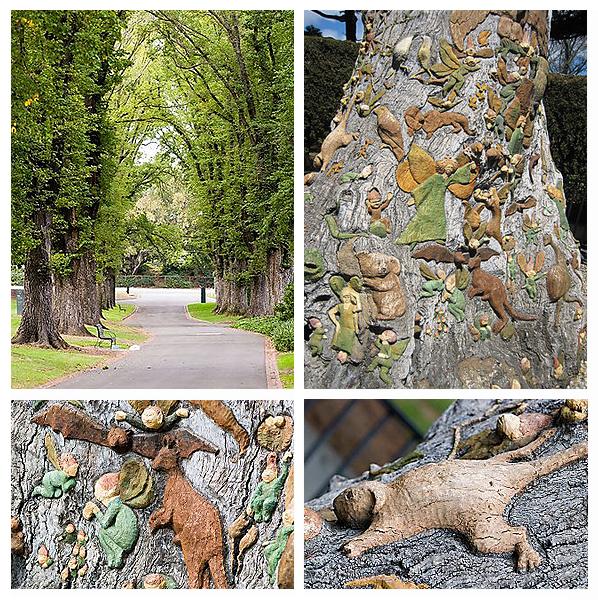 art, australia, dwarfs, fairies, fairy, fitzroy garden, gnomes, melbourne, Ola Cohn, tree