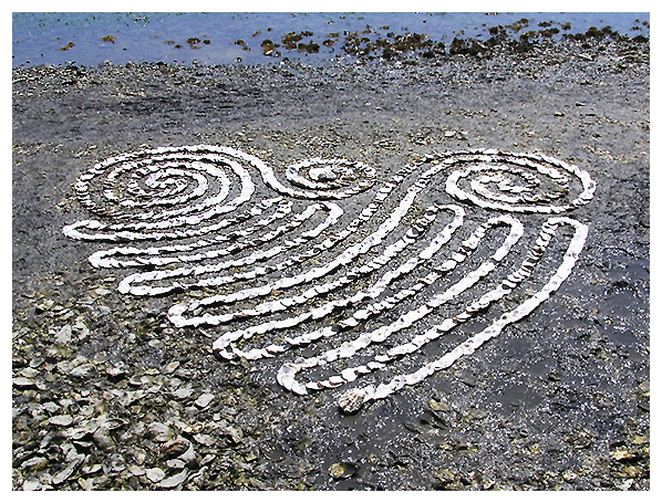 bivalve, earth, eco, environmental, krueger, labyrinth, land, nature natural art, oyster, Samish Bay, sculpture, shell, whitney